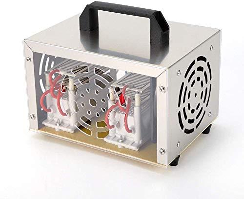 OUBAYLEW Generador de ozono, 20.000 mg/h, dispositivo de ozono, purificador de aire, cuidado del vehículo, 220 V, elimina olores con temporizador