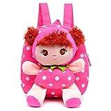 Runrain Süßer Kinder-Rucksack für Kleinkinder, Plüsch-Spielzeug, Rucksack, Snack, Reisetasche, Vorschultasche für Mädchen von 1–5 Jahren