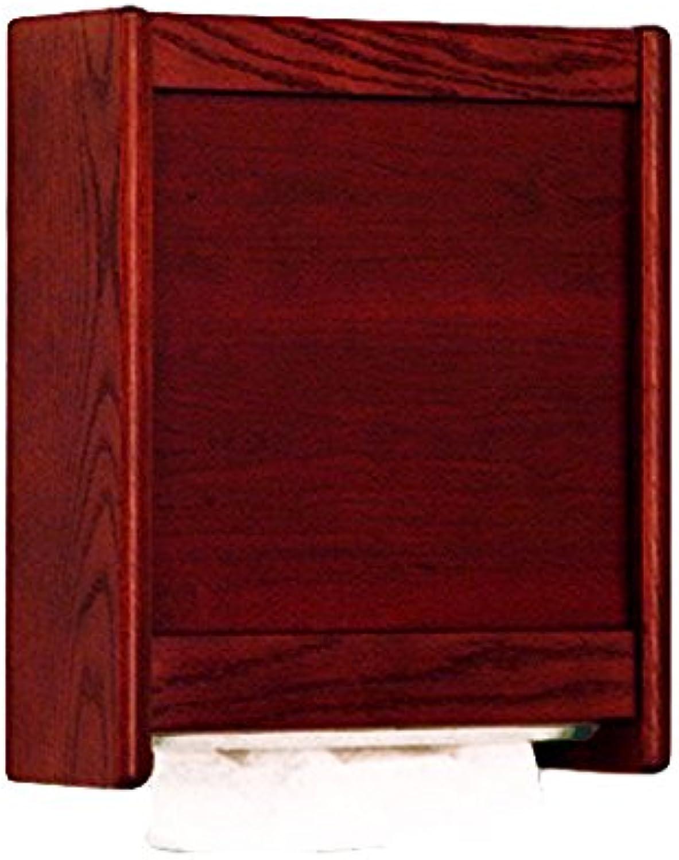 Wooden Mallet C-Fold Multi-Fold Towel Dispenser, Mahogany
