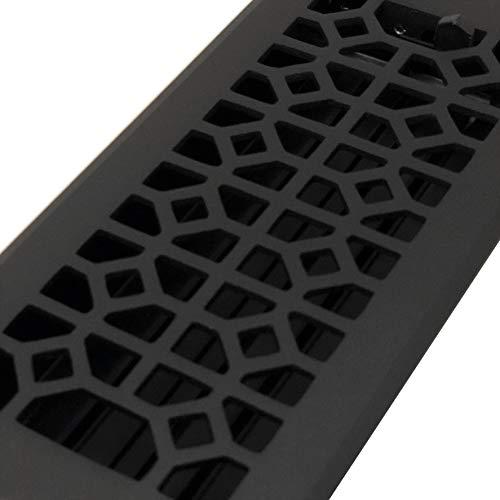 Madelyn Carter Roman Floor Registers'Cast Iron Look' (Cast Aluminium) (2 x 12 (Overall Size: 3-1/2 x 13-1/2))