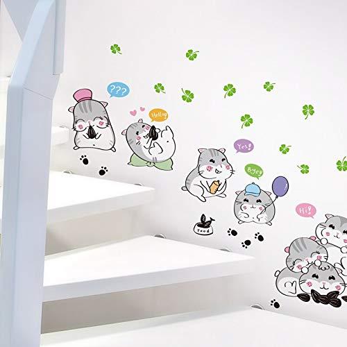 sxh28185171 Cartoon Hamster Wandaufkleber Vinyl Tier Wandtattoo Aufkleber Home Babyzimmer Kinderzimmer Dekoration Wandaufkleber Tapete Wandbild90cmX60cm