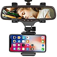 LXCN® Car Rear View Mirror Mount Stand - Anti Shake Fall Prevention 360 Degree Rotation with Anti-Vibration Pads Universal...