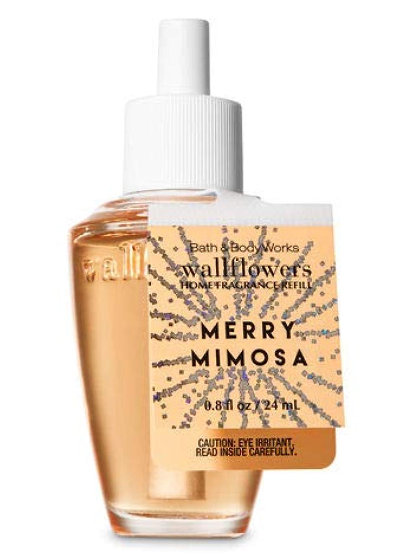 すぐに単に野心的【Bath&Body Works/バス&ボディワークス】 ルームフレグランス 詰替えリフィル メリーミモザ Wallflowers Home Fragrance Refill Merry Mimosa [並行輸入品]