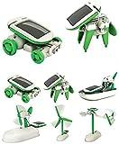 COSMOLINO Kit de Robot Solar 6 en 1 Aprendizaje Educativo Ciencia Construcción de Juguetes con alicates para niños de 8-12 años