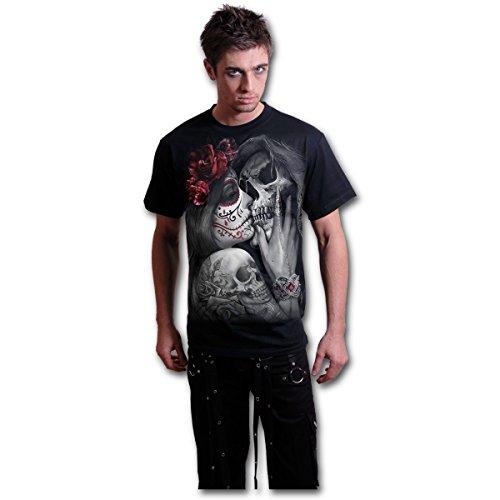 Spiral Direct Camiseta de Manga Corta Dead Kiss con Estampado Catrina y Santa Muerte - XL