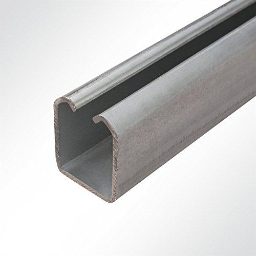 LYSEL Laufschiene verzinkt 42x54mm bis 450 Kg Schiebetor Schiebetür Hallentor 2 Meter