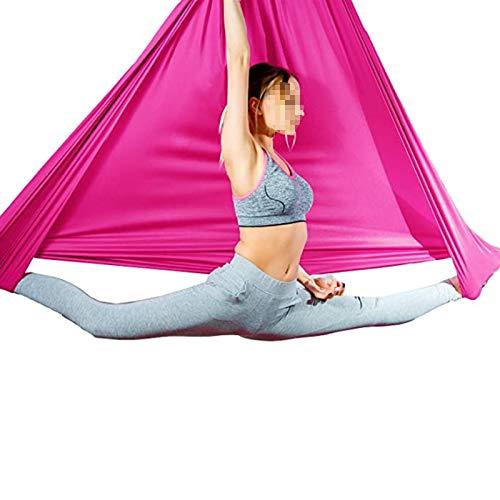 WWL Hamaca aérea de yoga de 5 mx2,8 m, elástica, hamaca de yoga para yoga y yoga, para hacer deporte, 500 kg