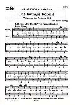 DIE LAUNIGE FORELLE FUER MAENNERCHOR - arrangiert für Männerchor [Noten / Sheetmusic] Komponist: SCHOEGGL FRANZ