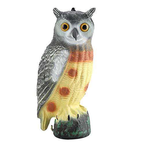 DeWin Faux Hibou Prowler Miniature, décor de Jardin leurre prédateur épouvantail
