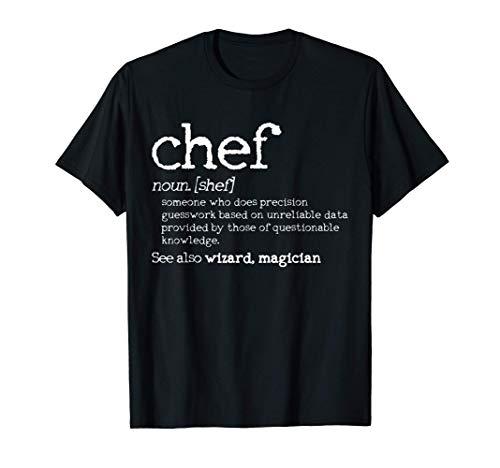 Chef definición divertido Cocinero Cocinar Regalo Camiseta