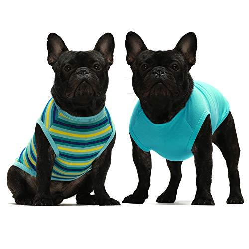 Fitwarm 2-Pack 100% Cotton Striped Dog Shirt
