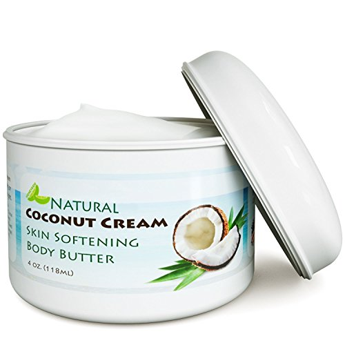Coconut Oil Body Butter for Stretchmarks & Scars - Natural Skin Care for Women & Men - Anti Aging Cream Moisturizer for Dry & Sensitive Skin - Vitamin E Skin Tightening Cream - Anti-Wrinkle Treatment