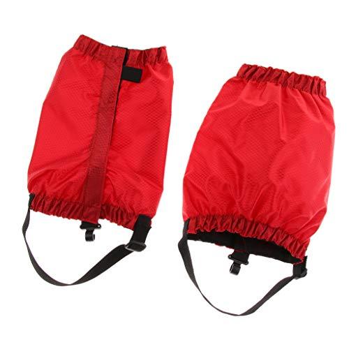 lahomia Outdoor Waterproof Caviglia Walking Gaiters Boots Low Snow Leg Guard - Blu, 25 centimetri - Rosso, 25 centimetri