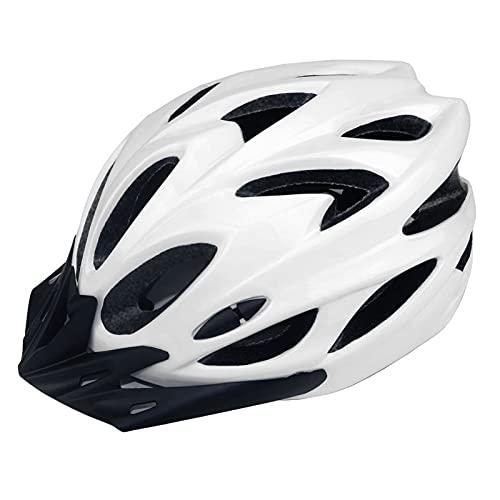 ZXCASD Casco Bicicleta Adulto,Casco Bicicleta Hombre Mujer,Casco Bicicleta con Visera Magnética, Casco Bicicleta Adulto Montaña Ski Ciclismo Snowboard, luz 57-62CM