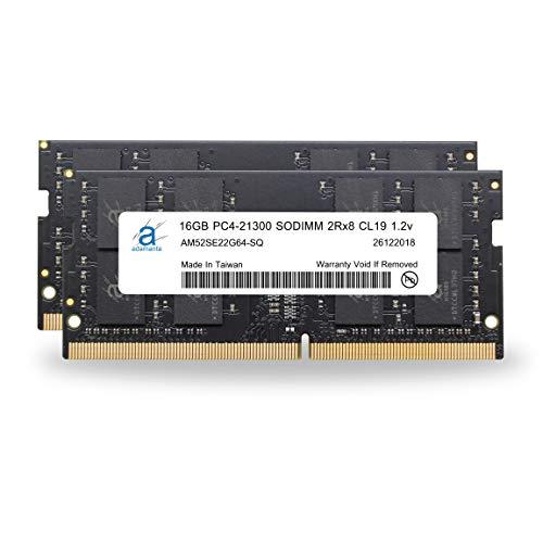 "Adamanta 32GB (2x16GB) Memory Upgrade for 2019 & 2020 Apple iMac 27"" (iMac 19,1 iMac 20,1 iMac 20,2) w/Retina 5K Display, 2018 Mac Mini DDR4 2666Mhz PC4-21300 SODIMM 2Rx8 CL19 1.2v DRAM RAM"