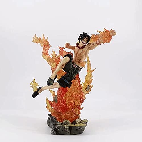 Zpzzy One Piece Portgas·D· Ace Versión De Combate Modelo De Personaje De Anime Estatua De Figura De Material De PVC Figura De Anime para Adultos Regalos/Coleccionables para Fanáticos De Otaku Y Anim