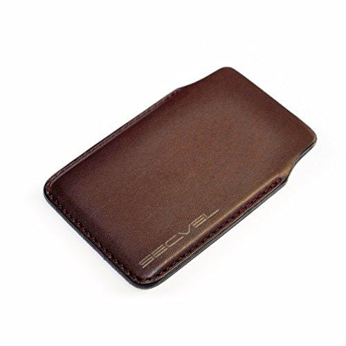Funda Protectora patentada y Probada por TÜV Cuero Negro | Bloqueador RFID NFC | Blindaje de Campo magnético | Jammers para Tarjeta de crédito, Tarjeta de Identidad | Protección 100% Activa