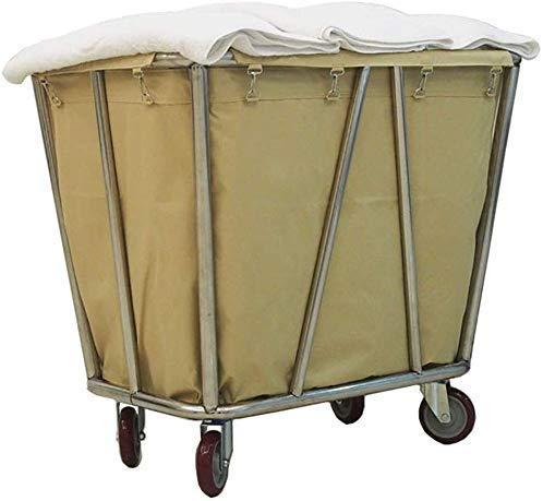 wagen, wagen, wagen, wagen, winkelwagen, winkelwagen, boodschappentrolley, wasmand, map met wielen, wielen voor hotel Bin met afneembare tas, beige /