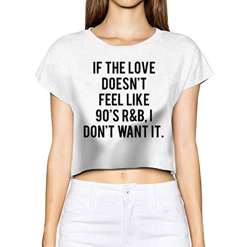 NASA LOGO Lady 80/'S Cotton Touch T-shirt Damen Crop Top