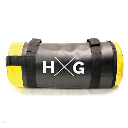 JOWY Sandbag Crossfit Bolsa de Piel Sintética MMA Boxeo de 15kg | Saco de Arena Fitness para Entrenamiento Funcional