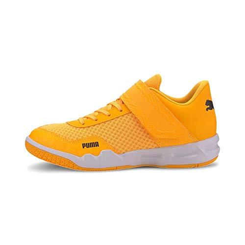 Puma Rise XT EH 4 Handballschuhe orange Kinder Orange Alert-Puma Black-Puma White, 32 (UK 13K)