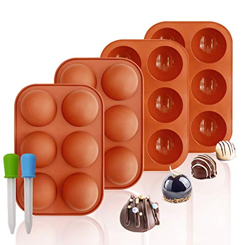 4 pack silicone baking mold for making hot chocolate bombs