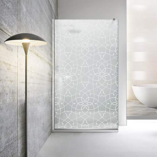 Modern Glass Art - Parapioggia doccia Leroy Timeless Coblat in vetro temperato satinato da 8 mm, con rivestimento nano rivestito, in acciaio inox SS304, da Modern Glass Art, bianco