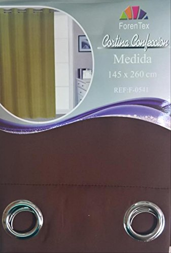 ForenTex - Cortina Opaca (F-0541), Chocolate, 145 x 260 cm
