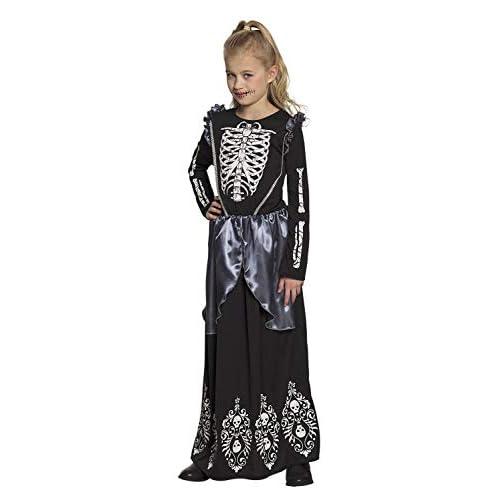 Boland 78131 - Costume da Skeleton Queen, 4 - 6 Anni, Colore: Nero/Bianco/Grigio