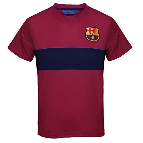 FC Barcelona - Jungen Trainingstrikot aus Polyester - Offizielles Merchandise - Rot gestreift - 8-9 Jahre