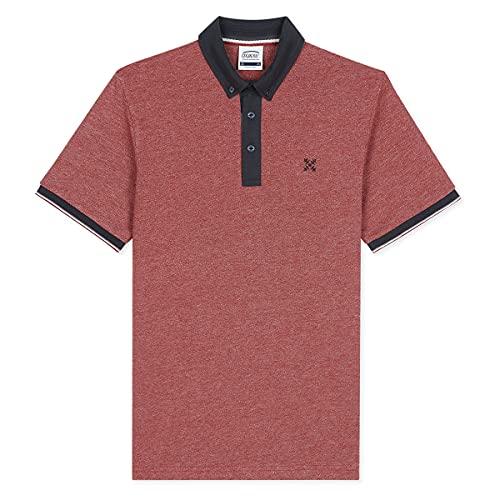 Oxbow N2nosser - Polo para Hombre, Hombre, Camisa de Polo, N2NOSSER, Granate, Small