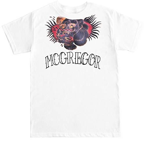 FTD Apparel Men's Conor McGregor Tattoo T Shirt - Medium White
