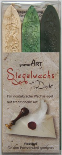 gravurart–Flexible de cera con mecha de flote, color Elfenbei, Grün Perlmutt, Dunkelgrün
