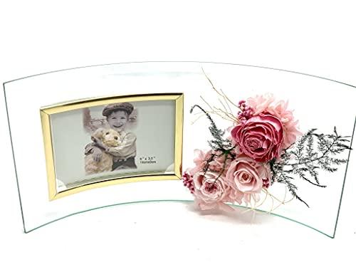 Flores preservadas en Marco de Fotos para Mamá - Regalos Originales Día de la Madre - Marco de Fotos 29.5cm x 15.5 cm