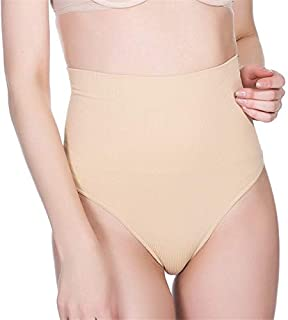 LIFANG Women High Waist Thong Panty Brief Body Shaper Tummy Control Panties Belly Girdle Slimming Waist Belt Underwear Shapewear (Color : Skin Color, Size : XXL)