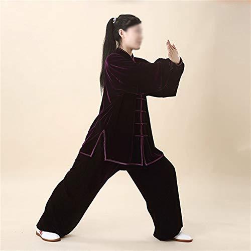BAJIE Tai chi Uniforme Algodón Alto Calidad Wushu Kung fu Ropa Niños Adultos Marcial Letras ala Chun Traje (Color : Y, Size : XXX-Large)