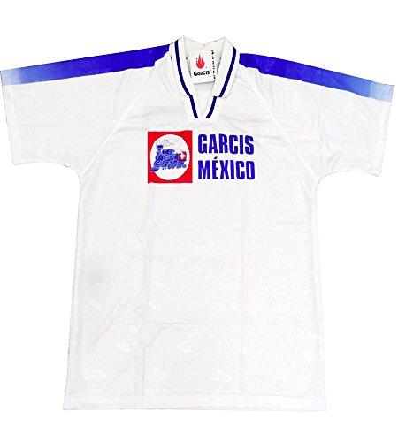Garcis Futbol Mexico Jersey Model Cruz Azul Color White (X-Large)