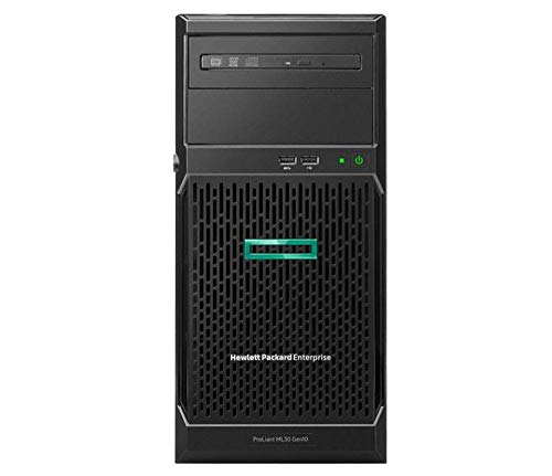 HP ProLiant ML30 Gen10 Tower Server Bundle with Intel Xeon E-2124, 32GB DDR4, 4TB SSD, RAID, Windows Server 2019 Standard