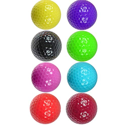 BESPORTBLE 4 Piezas Pelota de Golf Bolas de Entrenamiento de Goma Juguete Divertido de La Bola de Los Niños para Interiores Patio Trasero Campo de Prácticas Práctica de Swing Color Aleatorio
