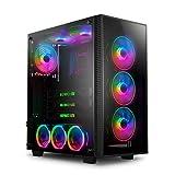 anidees AI Crystal M, mittlerer Tower, gehärtetes Glas, CEB-ATX/ATX PC Gaming Gehäuse, 360/240-Radiator, inkl. 4 x 120 PWM RGB Lüfter - Schwarz AI-CL-M (NUR PC Gehäuse)