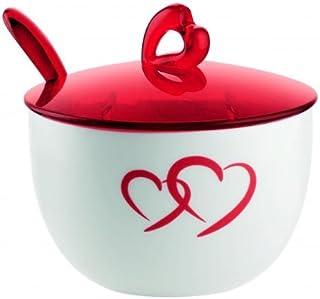 Rosso San//SMMA Fratelli Guzzini Belle Epoque Zuccheriera con Cucchiaino