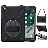 TSQ iPad Mini Case for iPad Mini 5 2019/ Mini 4 for Kids | Heavy Duty Rugged Shockproof iPad Mini 5th Generation Case 7.9 Inch w/ Stand Hand Hand Strap Shoulder Strap A2133/A2126/A1538/A1550, Black