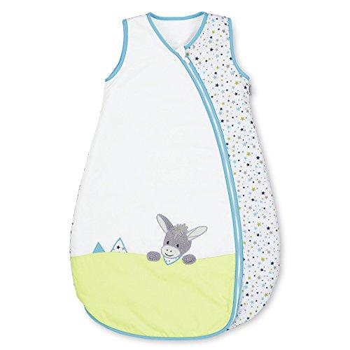 Sterntaler Sommer-Schlafsack für Kleinkinder, Reißverschluss, Größe: 110, Erik, Weiß/Grün