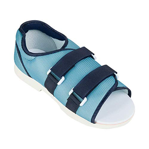 Ossur Mesh Top Post-Op Shoe (Female) | Post Surgery, Soft Tissue Procedures and Post Trauma Recovery | Open-Toe, Breathable Top with Extended Straps and Dual Side Closure | Medium Size