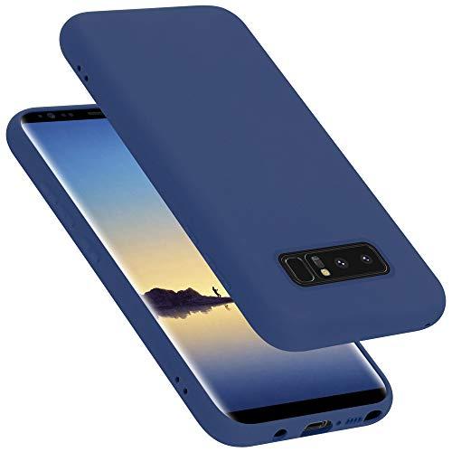 Cadorabo Custodia per Samsung Galaxy NOTE 8 in LIQUID BLU - Morbida Cover Protettiva Sottile di Silicone TPU con Bordo Protezione - Ultra Slim Case Antiurto Gel Back Bumper Guscio