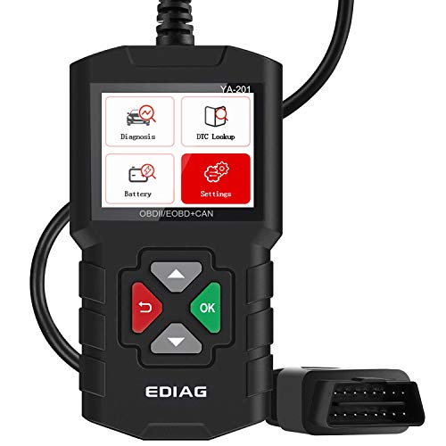 EDIAG YA201 OBD2 Scanner Mode 6 Mode 8 live data graph Automotive Engine Fault Code Reader CAN Diagnostic Scan Tool EVAP Test O2 Sensor Full OBDII Function - Lifetime Free Update