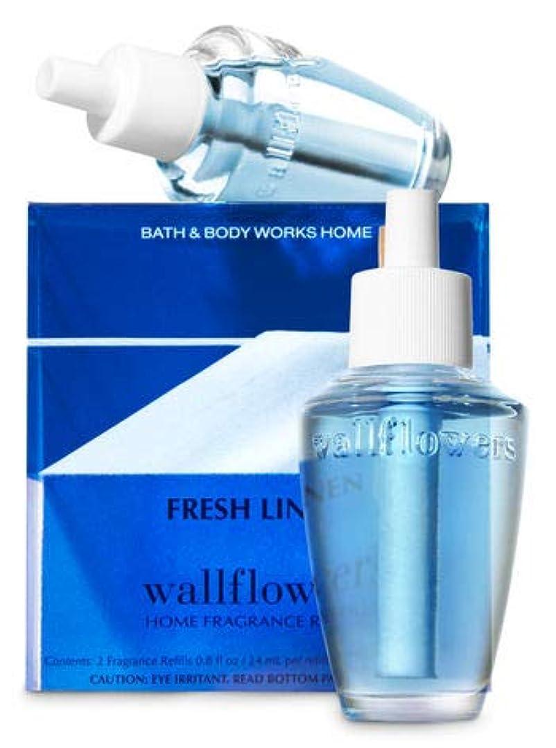 アピール意味のある農業の【Bath&Body Works/バス&ボディワークス】 ホームフレグランス 詰替えリフィル(2個入り) フレッシュリネン Wallflowers Home Fragrance 2-Pack Refills Fresh Linen [並行輸入品]