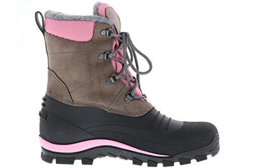 SPIRALE Damen Winterstiefel Snowboots schwarz/braun/rosa, Größe: 39 Farbe: Rosa - 6