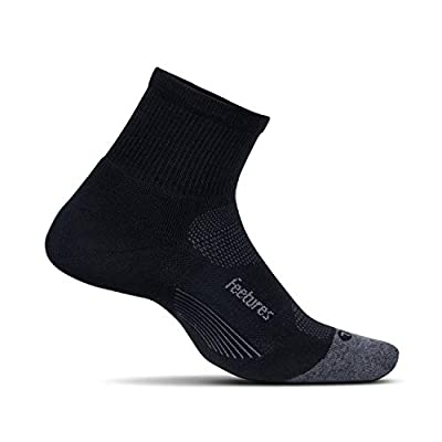 Feetures Unisex Elite Max Cushion Quarter Sock (X-Large, Black) from Feetures