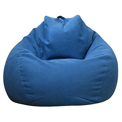Ghopy Housse de Pouf Poire (sans Remplissage!!!) Pouf de Salon, pour Grand Canapé Grande Fauteuil de Salon Chaise Longue pour Intérieur Extérieur Bleu pour Adulte Enfants XXL(120*100cm)